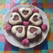 шоколадные сырки в виде сердечек